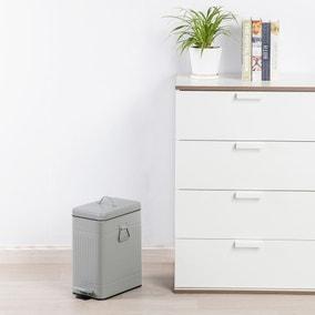 Vintage 8L Grey Recycling Bin