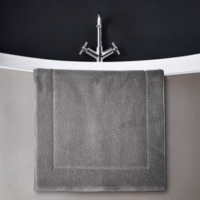 Hotel Soft Cotton Terry Slate Bath Mat