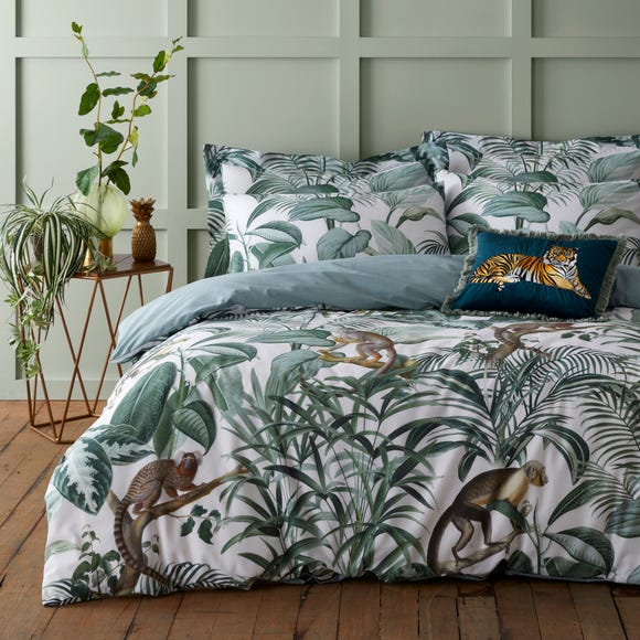 Jungle Green 100% Cotton Reversible Duvet Cover and Pillowcase Set  undefined