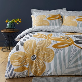 Elements Silja Floral Reversible Duvet Cover and Pillowcase Set
