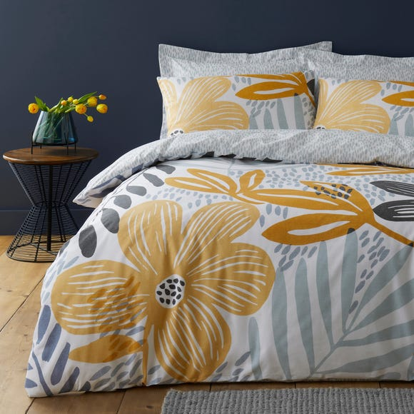 Elements Silja Floral Reversible Duvet Cover and Pillowcase Set  undefined