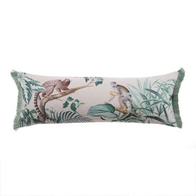 Natural Jungle Luxe Monkey Cushion