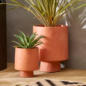 Terracotta Footed Pot