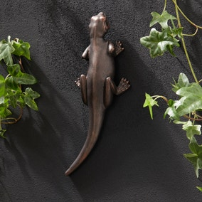 Bronze Gecko Garden Ornament