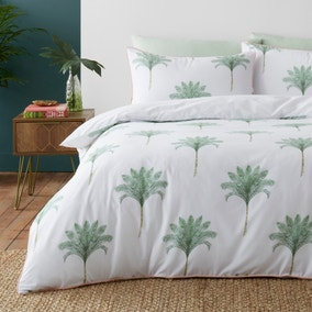 Palma Green Reversible Duvet Cover and Pillowcase Set