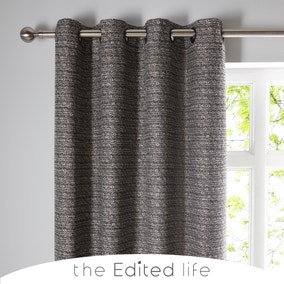 Recycled Monochrome Eyelet Curtains