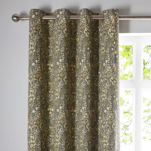 Brampton Green Eyelet Curtains  undefined