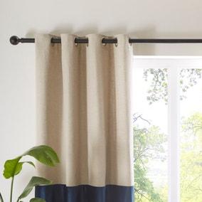 Hampton Navy Eyelet Curtains