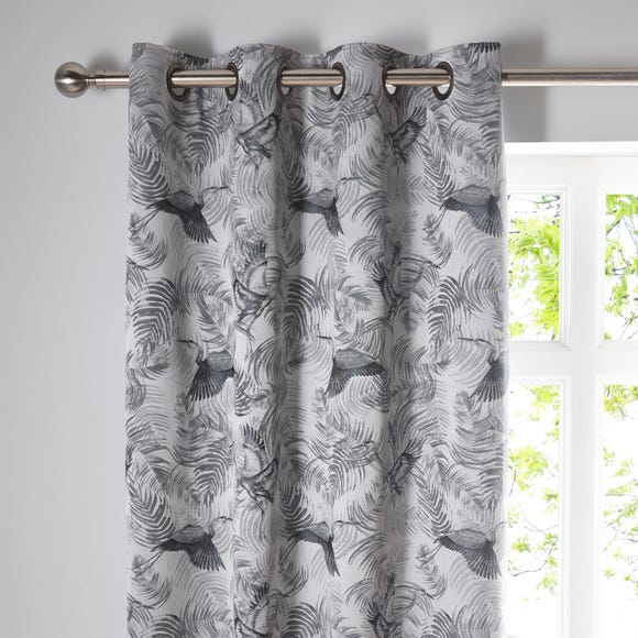 Crane Silver Eyelet Curtains  undefined