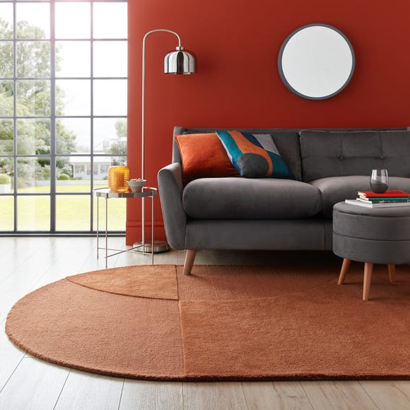 Elements Shaped Wool Rug  undefined