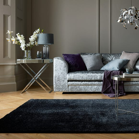 Luxe Sparkle Rug Black (2) undefined