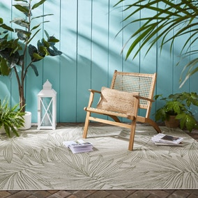 Tropical Leaves Indoor Outdoor Rug