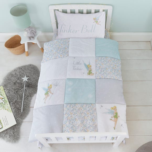Tinkerbell 100% Cotton 4 Tog Cot Quilt MultiColoured
