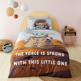 Star Wars Baby Yoda 100% Cotton Duvet Cover and Pillowcase Set