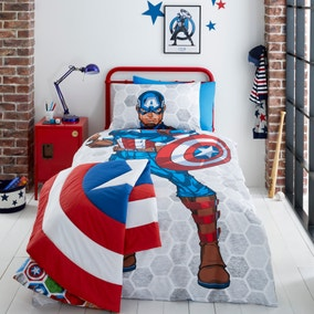 Marvel Captain America Reversible Duvet Cover and Pillowcase Set