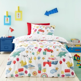 My Favourite Things 100% Cotton Duvet Cover and Pillowcase Set