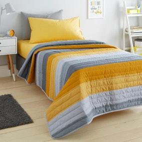 Elements Striped Grey Bedspread