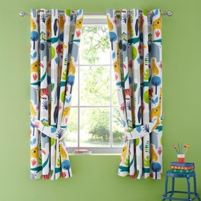 Elements Jungle Blackout Eyelet Curtains