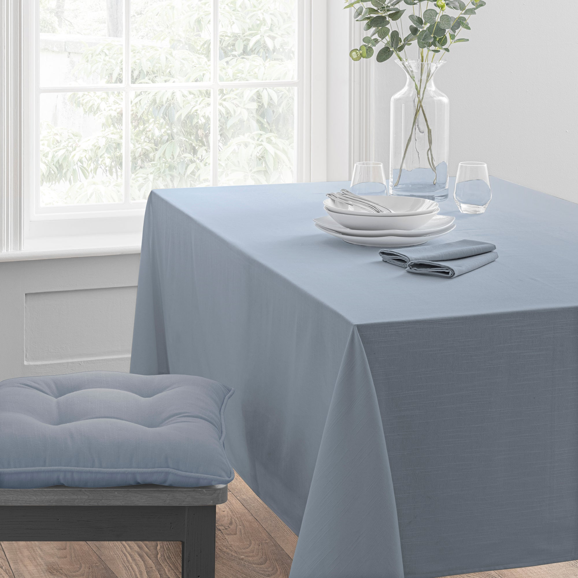 Image of Isabelle Tablecloth Ashley Blue