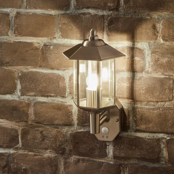 Pacific Lifestyle Bellis Outdoor PIR Wall Light Silver