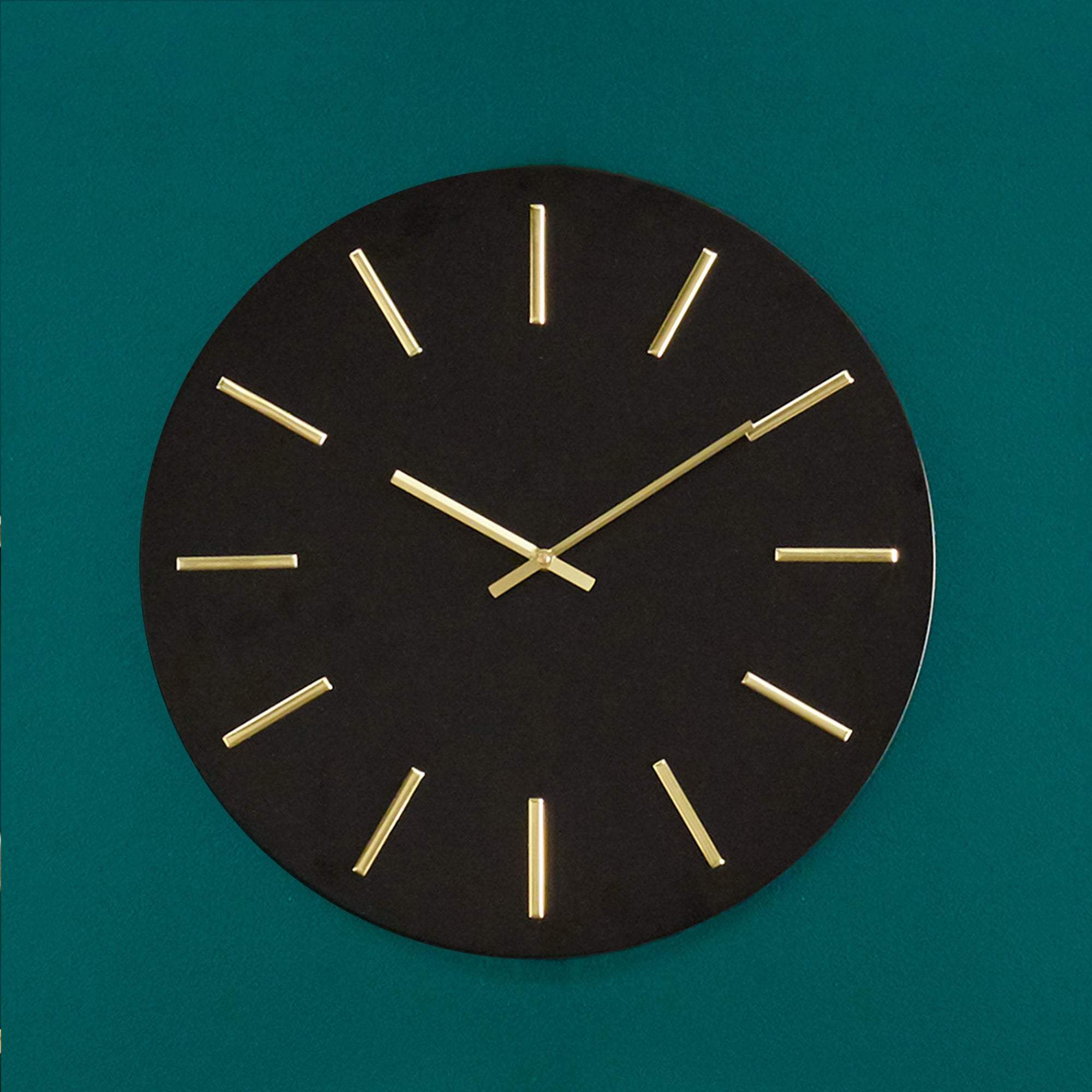 Click to view product details and reviews for Pacific Lifestyle 50cm Round Metal Wall Clock Black And Gold Black.
