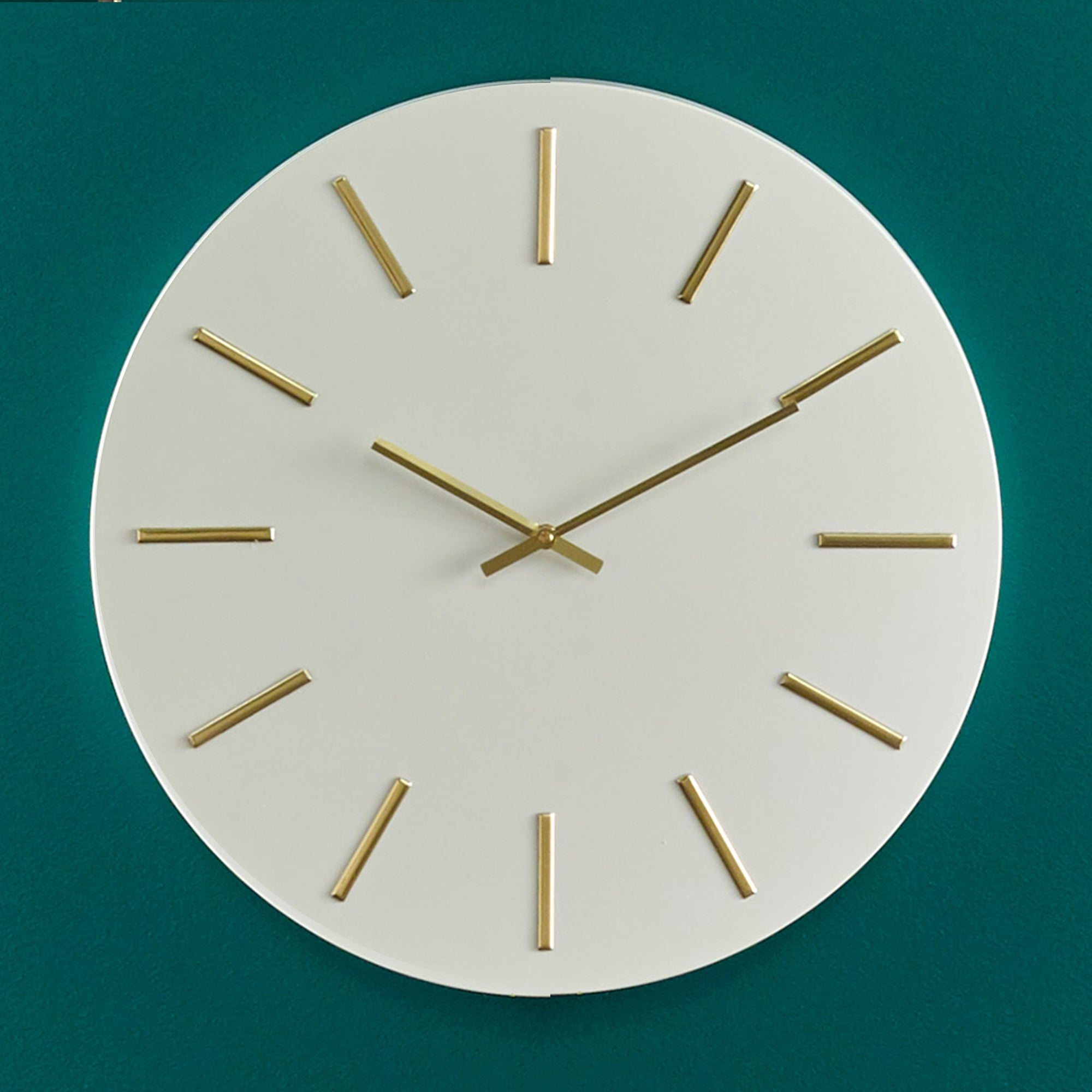 Click to view product details and reviews for Pacific Lifestyle 50cm Round Metal Wall Clock White And Gold White.