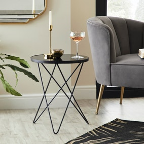 Roxy Black Side Table
