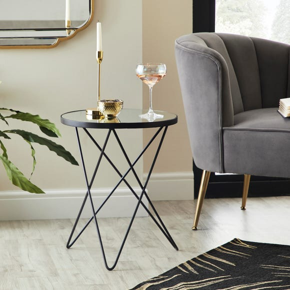 Roxy Mirrored Side Table Silver