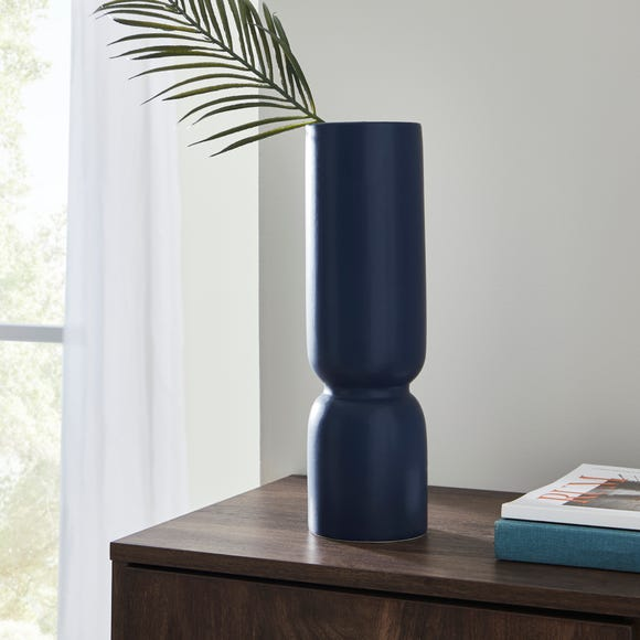 Ceramic Elements Vase 35cm Navy Navy