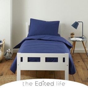 Sailor Blue 100% Organic Cotton Duvet Cover and Pillowcase Set
