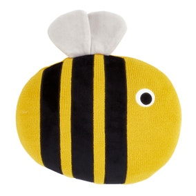 Bee Kind Knitted Cushion