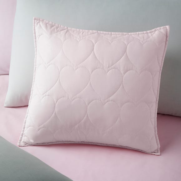 Quilted Hearts Cushion Light Pink