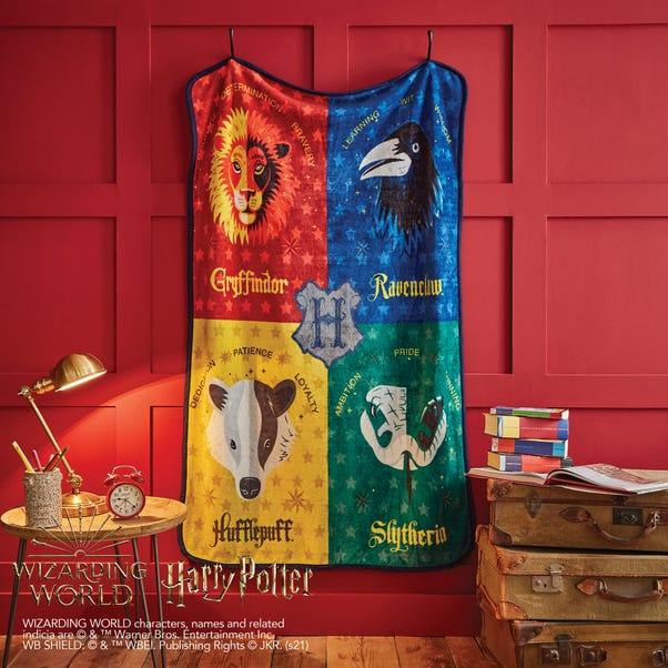 Harry Potter Houses Blanket MultiColoured