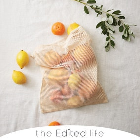 Pack of 3 Cotton Fruit and Vegetable Bags