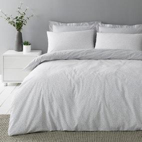 Dottie Grey Duvet Cover and Pillowcase Set