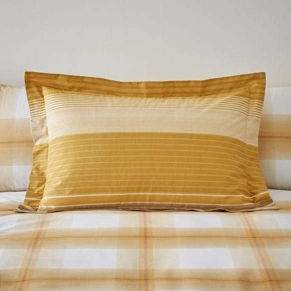 Colby Ochre Oxford Pillowcase  undefined