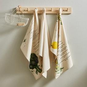Pack of 3 Home Grown Tea Towels