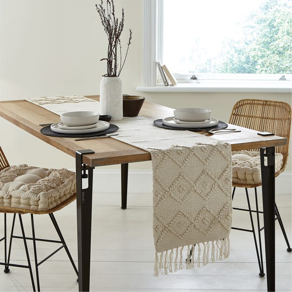 Macrame Global Textured Table Runner  undefined