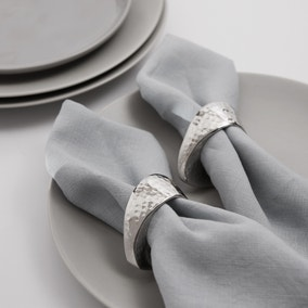 Oval Silver Napkin Ring Set of 2