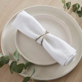 Silver Cross Over Napkin Ring Set of 2