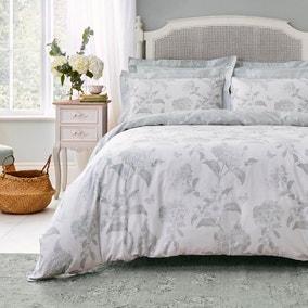 Holly Willoughby Rene Eucalyptus 100% Cotton Duvet Cover and Pillowcase Set
