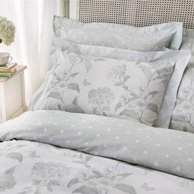 Holly Willoughby Rene Eucalyptus Light Green 100% Cotton Oxford Pillowcase