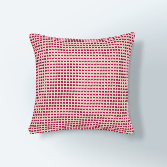 Bright Woven Cushion Cover Fuchsia Pink undefined