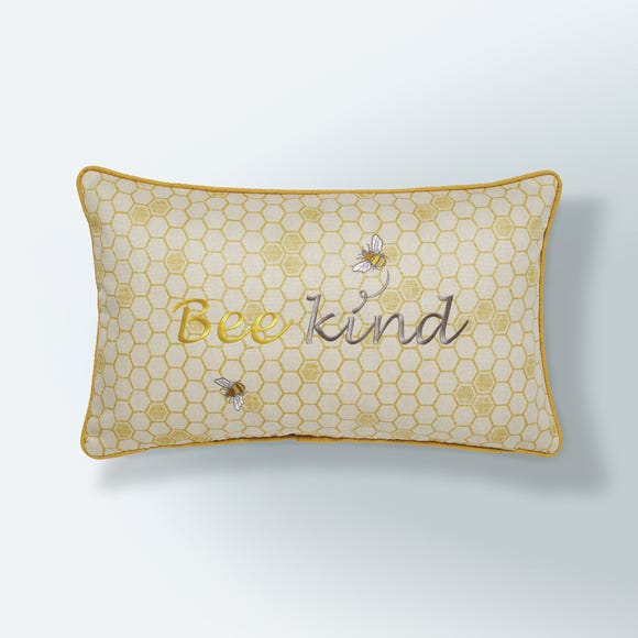 Bee Kind Cushion Natural Natural undefined