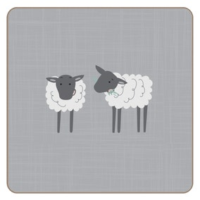 Penny the Sheep Set of 4 Cork Back Coasters