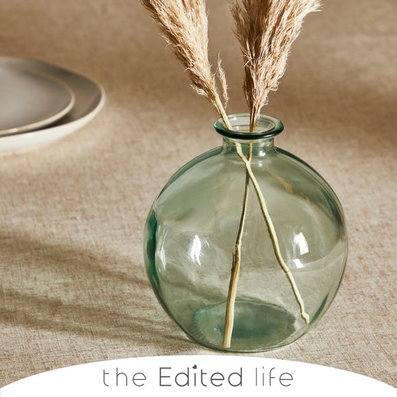 Recycled Glass Bottle Vase Clear