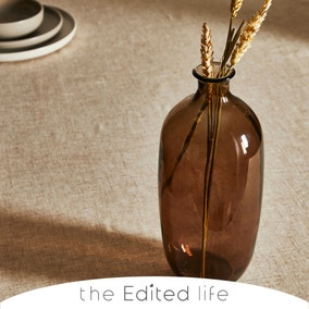Brown Recycled Glass Bottle Vase