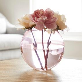 Pink Glass Fishbowl