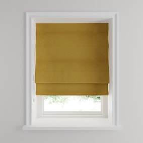 Luna Old Gold Blackout Roman Blind