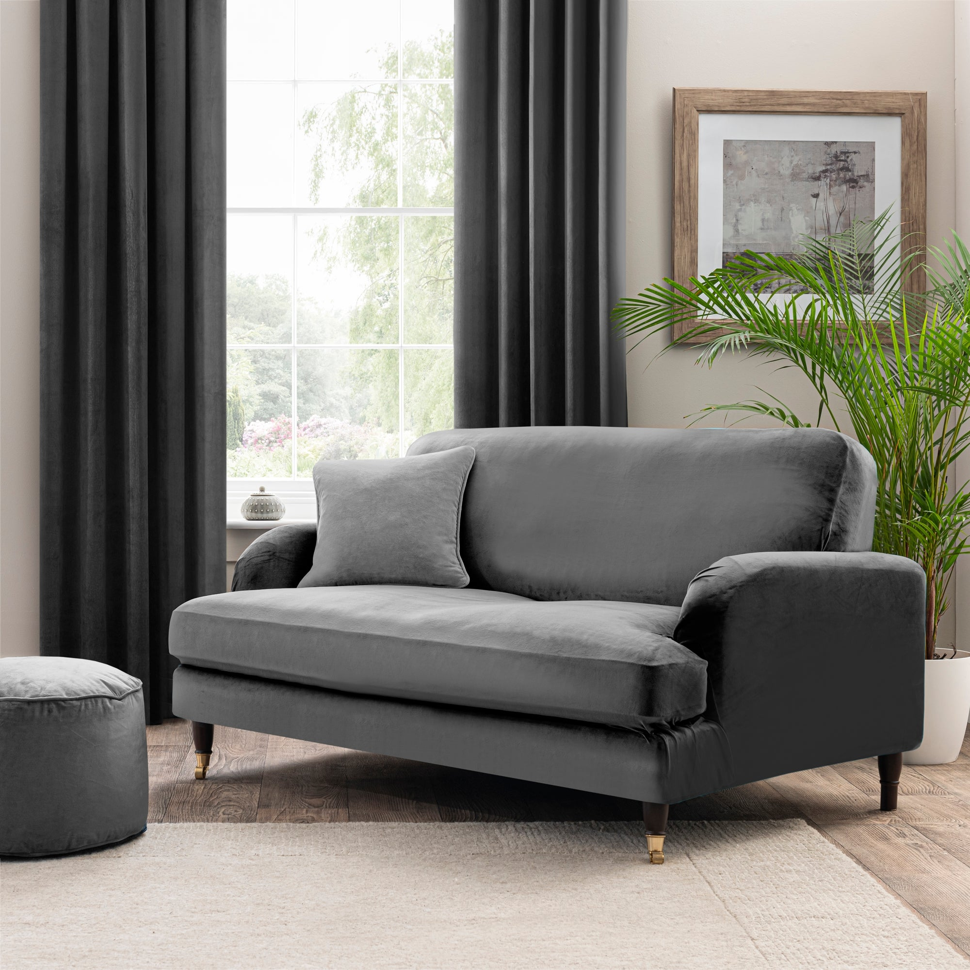 Isla Two Seater Sofa Cover Grey